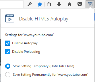 Disable HTML5